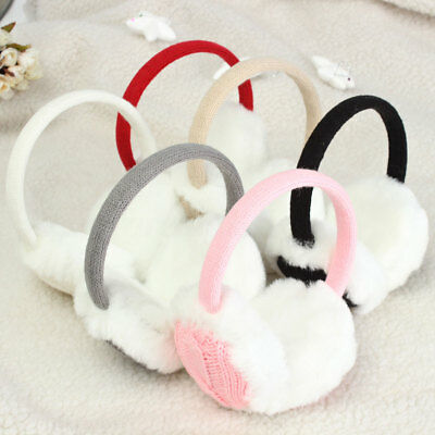 Women Girl Winter Warm Knit Earmuffs Earwarmers Ear Muffs Earlap Warmer Headband