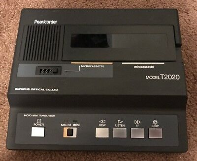 Olympus Pearlcorder T-2020 Mini/Microcassette Transcriber Without AC Adapter