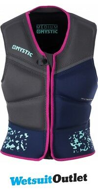 2018 Mystic Star Ladies Kite Front Zip Impact Vest Navy 160475