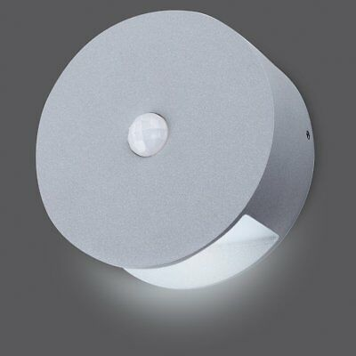 SMARTWARES LED Wall Light with Sensor Lamp In/Outdoor 0.5 W Grey GOB-001-MS