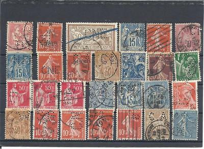 France   Timbres  Perfores
