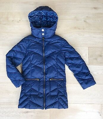 NEXT *8y GIRLS Navy Blue WINTER PADDED PUFFA School COAT FULLY LINED AGE 8 YEARS