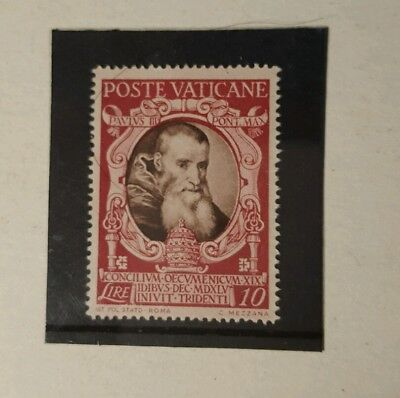 stamp -vatican city 1946 trent early issue  fine mint hinged -10L -  Lot 719