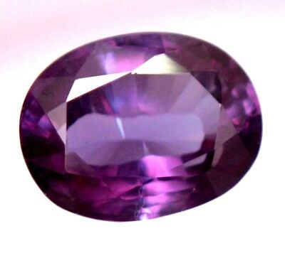 Natural Purple To Blue Changing Sapphire 8.15 Ct AGSL Certified Oval Cut Gem