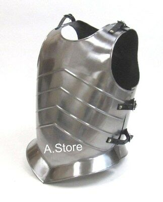 Armor Roman Muscle Breast Plate Medieval Chrome Finish Armor Jacket