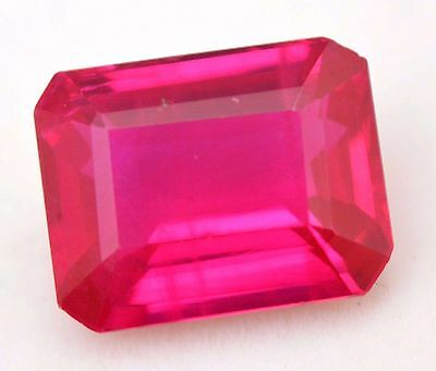 AGSL Certified 12.60 Ct Natural Borma Pink Ruby Emerald Cut Amazing AAA+ Gem
