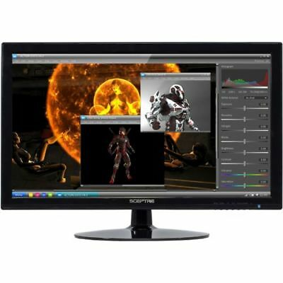 """NEW Sceptre 24"""" LED Full HD 1080p Monitor Black Home Office Gaming Screen"""