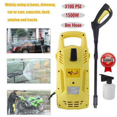3100PSI High Pressure Washer Electric Water Cleaner Gurney Pump 8M Hose RL
