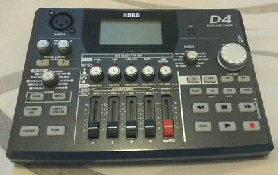 Korg D4 Digital 4 Track Recorder With Built In Guitar Effects And Drums