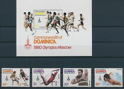 LH23353 Dominica Moscow 1980 olympic games fine lot MNH
