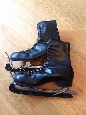 Vintage Brookfield Black Ice Skating Boots size 9