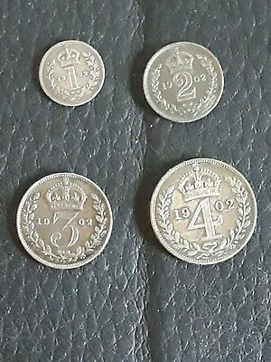 1902 Maundy Silver Coin Set