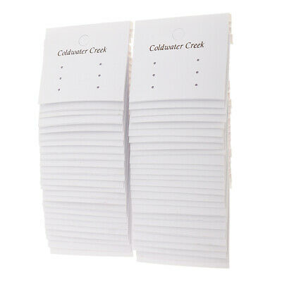50pcs Earring Display Cards Jewelry Stand Jewellery Craft DIY Tags 50*56mm
