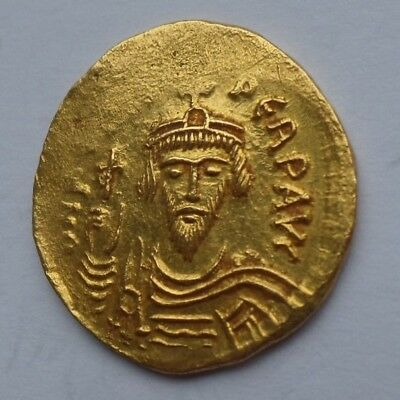 Ancient Coin - Byzantine Gold Solidus - Phocas, 602-610 AD.