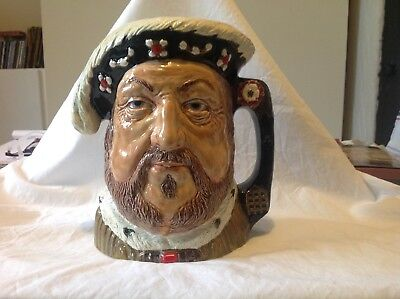 Toby Jug of King Henry 8th 1509-1547 by Royce Wood.