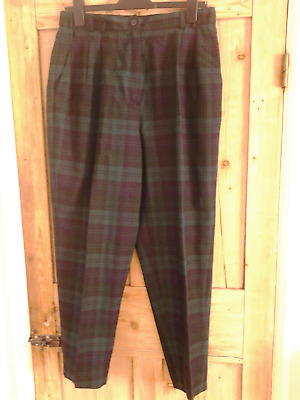 Vintage Tartan Trousers by Pringle, Size 16 EXCELLENT CONDITION