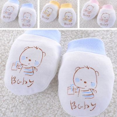 Baby Infant Anti-scratch Cotton Mittens Gloves Handguard 0-6 Months Newborn Kid