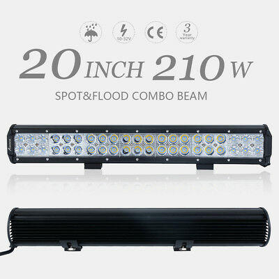 210W CREE LED Light Bar 20inch Flood Spot Combo Work Driving Lamp Offroad 4WD