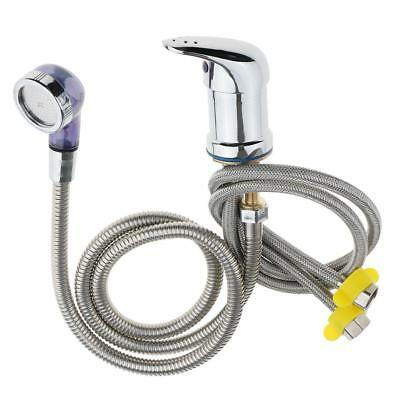 Hot Cold Faucet and Spray Hose for Beauty Salon Shampoo Bowl Parts Kit 60cm