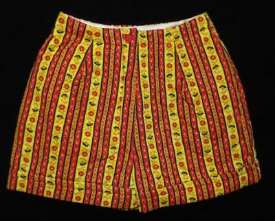 RETRO VTG 60s 70s TEENS WOMENS  QUILTED HOT PANTS SHORTS FAB COLORS NEW OLD XS