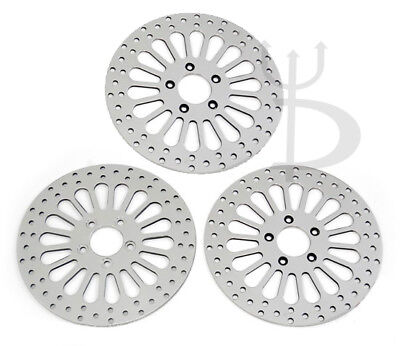 "11.8"" BRAKE ROTORS FRONT REAR HARLEY TOURING FLHT FLHTC 08-UP DYNA 06-09 3 pcs"
