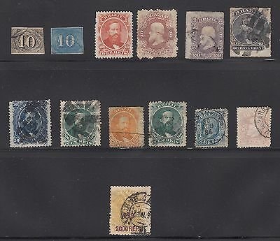 Brazil - 13 early stamps - as shown