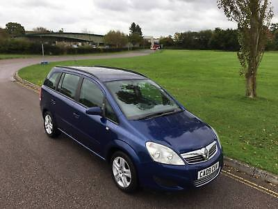 2009 vauxhall zafira 1.6 exclusive new mot-very good condition 7 seater