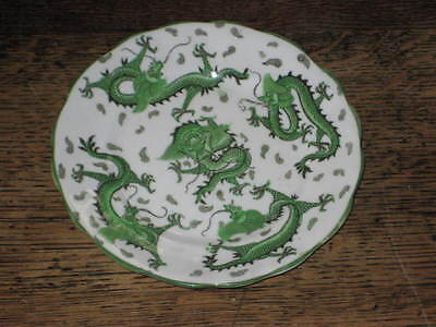 Old Tuscan  Plate Green Dragons Oriental Style