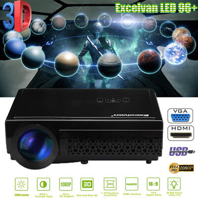 5000Lumen WIFI Android ZOOM 1080P Video Projektor Beamer HDMI/USB/SD/ATV/AV/VGA