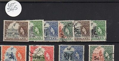 Lot Of Basutoland Stamps Used
