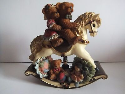 Travelling Teddies Rocking Horse By Regency Fine Arts