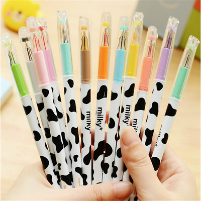 4Pcs 0.38mm Milky Cow Ballpoint Gel Pen Students Office Stationery for Kids Gift