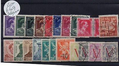 Lot Of Belgium Stamps