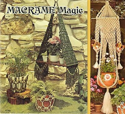 """Vintage 1979 Macrame Pattern Book """"macrame Magic"""" There Are 13 Projects"""