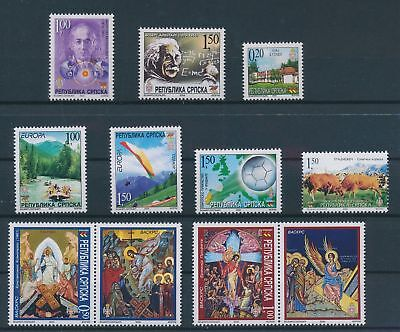 LH23667 Serbia 2004 nice lot of good stamps MNH