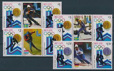 LH23696 Belize Lake Placid 1980 olympic games fine lot MNH