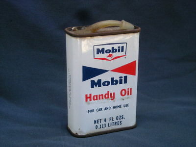 Vintage MOBIL Handy OIL 4 oz. Tin - Petrol Station, Garage, Mancave...