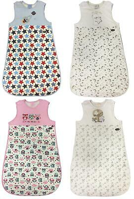 Baby Sleeping Bags 2.5 Tog Boys Girls Unisex 0-6 6-12 Months Cotton Bnwt