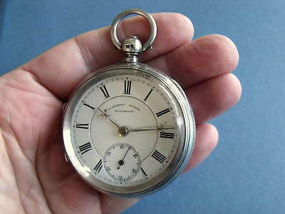 Superb Large Silver Fusee Pocket Watch 'cuthbert Butler, Blackburn' - Gwo
