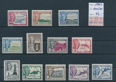 LH26465 British Virgin Islands 1952 king George VI lot MH cv 45 EUR