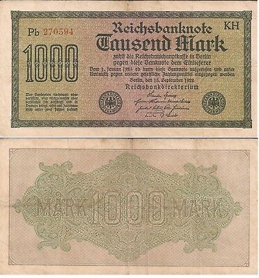 L146  Billete Alemania 1000 Marcos 1922. Ebc