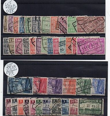Lot Of Belgium Railway Stamps Used