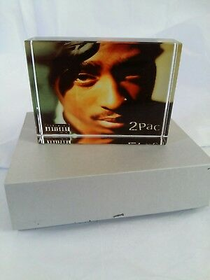 Rare tupac memorabilia crystal 8cm by 6cm ideal gift or collectable