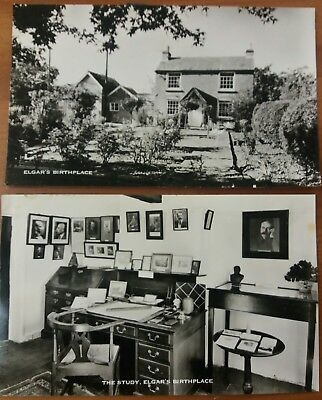 Vintage postcards showing Elgars birthplace