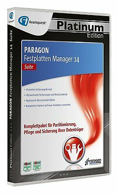 Paragon Festplatten Manager 14 Suite  CD/DVD EAN 4023126117892 Platinum Edition