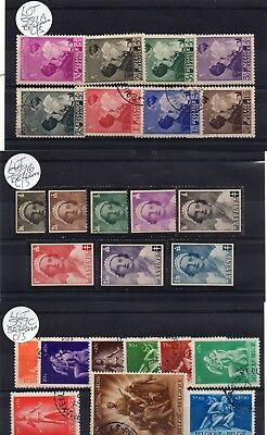 Lot Of Belgium Charity Stamps