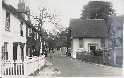 Vintage Cars In Quaint High Street Chipstead Kent 1941 Rp Pc