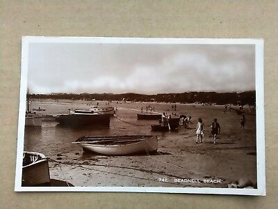 Northumberland BOATS ON THE BEACH, BEADNELL Old Photo Postcard