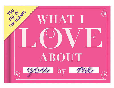 NEW Love Journal - What I Love About You By Me! Fill in the Blanks Gift Knock Kn