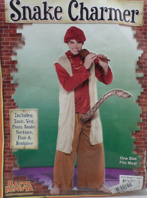 Snake Charmer Halloween Costume Adult Men's One Size Fits Most by Rasta Imposta